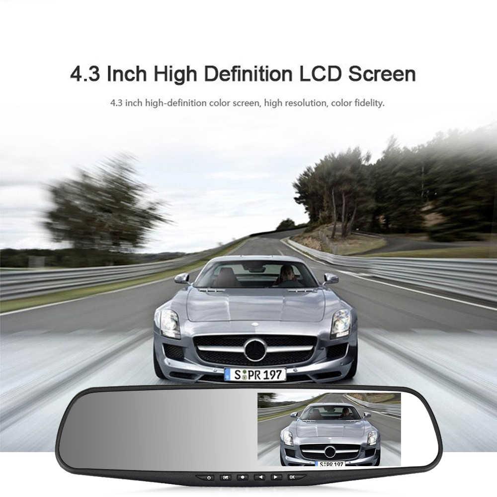 ADDKEY Full HD 1080 P Автомобильный видеорегистратор Камера авто 4,3 дюймов зеркало заднего вида цифровой видеорегистратор двойной объектив регистрационная видеокамера