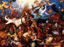 oil Painting modern The fall of the rebel angels Pieter Bruegel the Elder Hand painted High quality