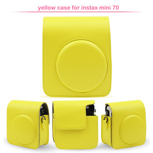 Image 5 - Protective PU Leather Classic Camera Case Bag with Shoulder Strap, Compatible for Fujifilm Instax Mini 70 Instant Camera