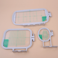 LETAOSK 3Pcs Embroidery Hoops Set Kit Fit for Brother SE350 SE400 PE500 Sewing Machine Tool