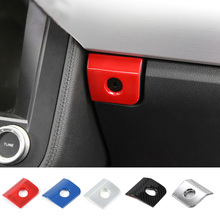 MOPAI ABS Car Interior Copilot Passenger Side Storage Box Button Decoration  Trim Stickers for Ford Mustang 82bed478f21f