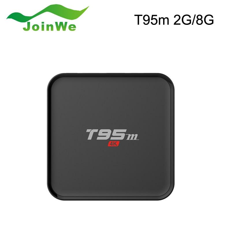 ФОТО Hot T95m Smart TV Box Amlogic S905X Quad Core Android 6.0 8GB emmc 2G DDR3 2.4GHz Wifi LED Display Support Kodi 16.0