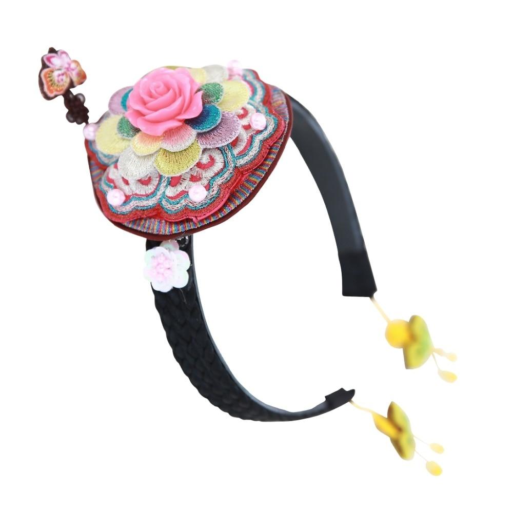 23 Desain Halus 3d Manik Headband Impor Tradisional Korea Bunga Sedikit Girls Rambut Klip Aksesori Perhiasan Di Aksesoris Dari