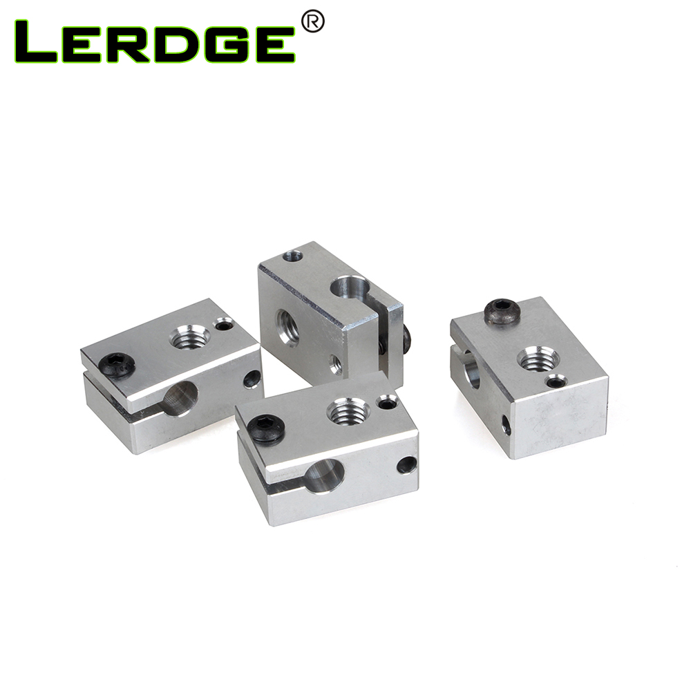 LERDGE 3D Printer Accessorie Aluminium V6 Heat Block For RepRap Extruder For HT-NTC100K HotEnd Heater Hot End Heating 1PCS