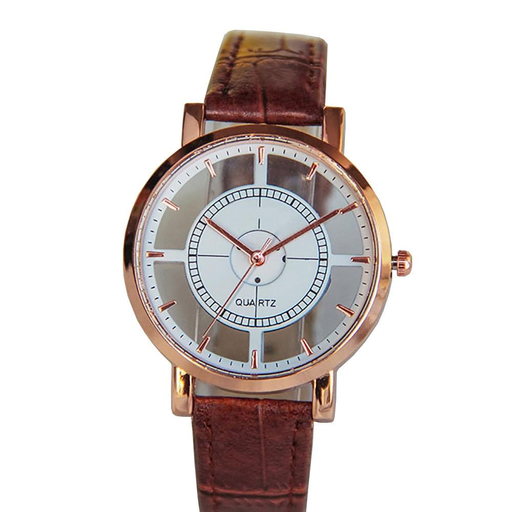 Mode-Frauen-Uhr-Luxus-einzigartige stilvolle stilvolle doppelte hohle - Herrenuhren
