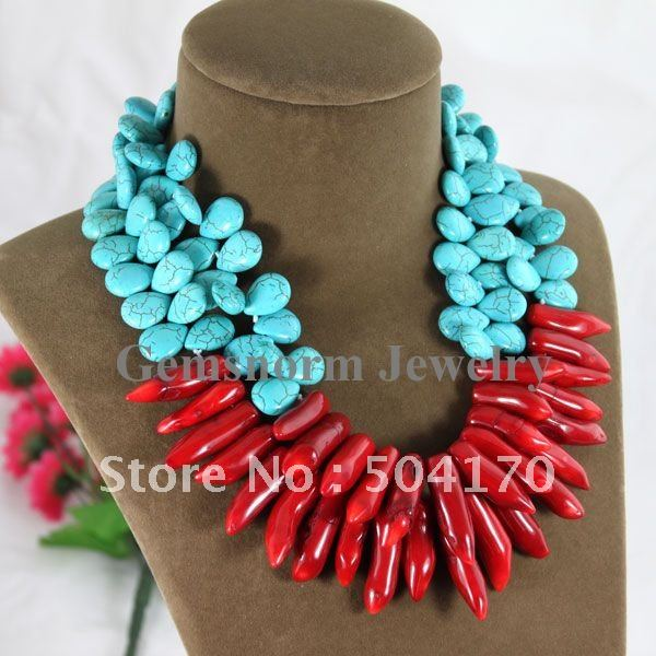Coral jewelry necklace images coral jewelry necklace images latest fashion double rows teardrop 13 15mm stone necklace natural jpg mozeypictures Image collections