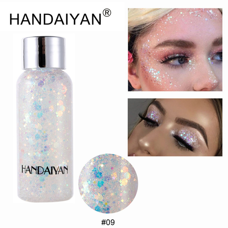 HANDAIYAN Русалка блестящие тени для век, гель для макияжа, блеск для глаз, жидкие пигменты, тени для век, гель для лица/хайлайтера/тела/волос TSLM2