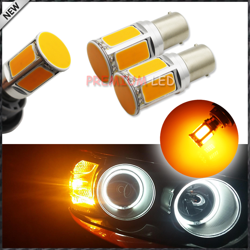 2pcs No Resistor Required Amber Yellow COB LED 1156 7506 7528 BA15s P21W  LED Bulbs For Front Turn Signal Lights(No Hyper Flash) фил коллинз phil collins no jacket required lp