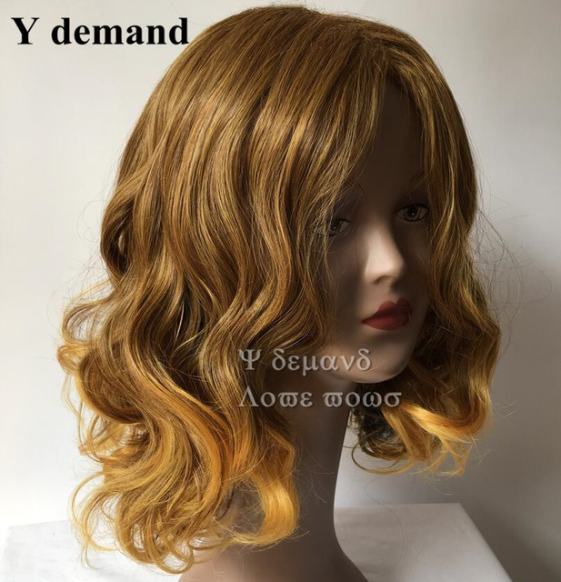 Blonde Afro Kinky Curly Wigs Highlights Celebrity Wigs Synthetic