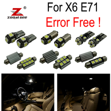 19pc X Error Free LED Lamp Interior dome Light Kit Package for BMW X6 E71 (2008-2016)