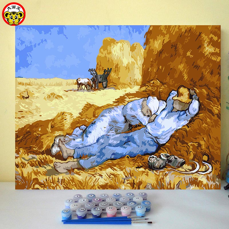 Van Gogh Lunch Break Famous Paintings Imitation Coloring Numbers Wedding