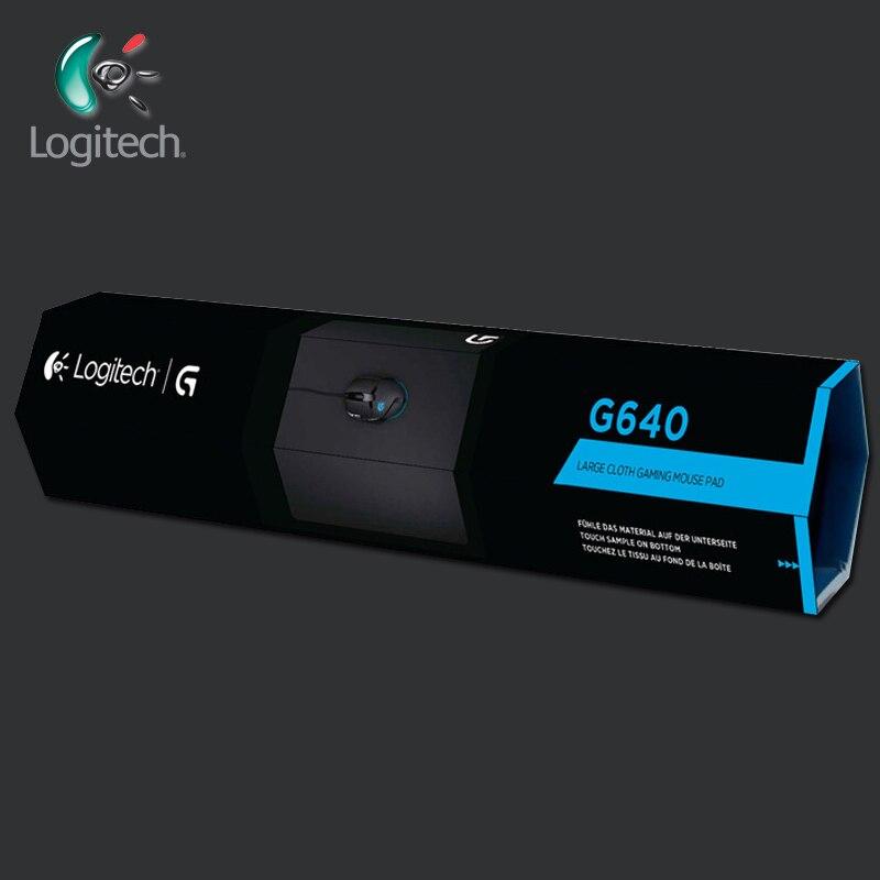 Logitech G640 grand tapis de souris de jeu en tissu tapis de souris Fabrice doux modéré pour le jeu en utilisant un réglage à faible DPI pour souris Gamer