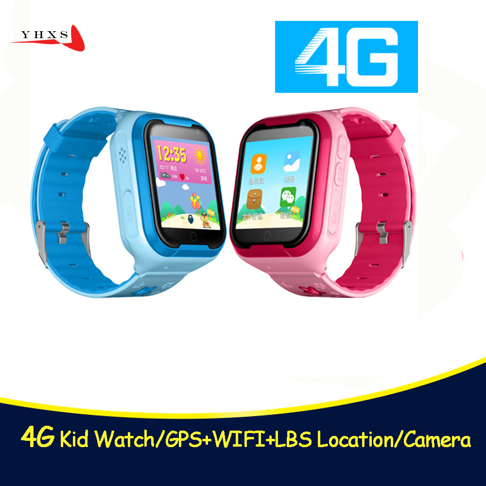 4G GPS Children Safe Monitor Tracker Kids Android IOS Waterproof Baby SOS Remote Monitor Camera SIM 4G Network Wristwatch