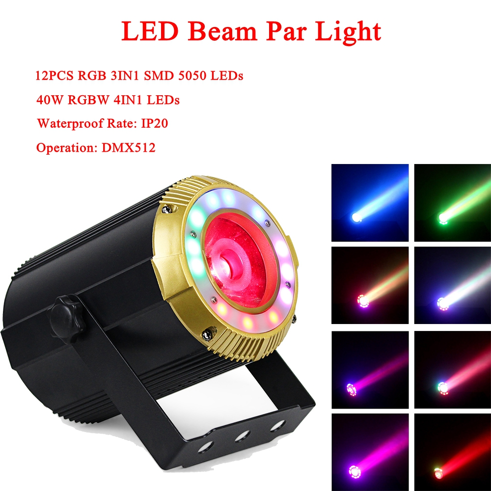 High quality 40W LED RGBW 4IN1 Beam Effect Par Light DMX512 Professional LED Stage Light For Party KTV Disco DJ Night Light free shipping 54x3w flat led par light rgbw best quality par can dmx512 disco dj home party ktv led stage effect projector page 3