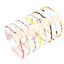 Shinus 10pcs/lot MIYUKI Bracelets Seashell Bracelet Women Summer Jewelry Pulseras Mujer 2019 Boho Chic Delica Beads Handmade