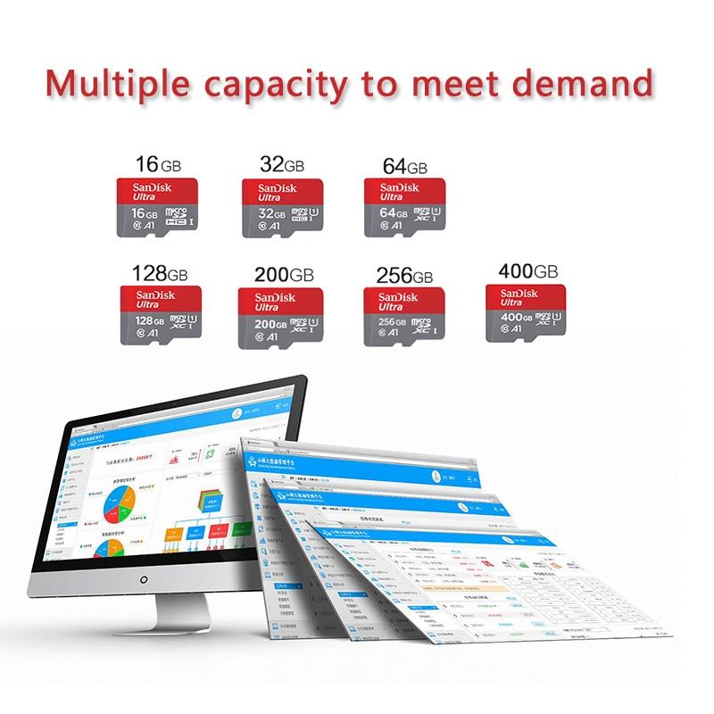 Карта памяти SanDisk Ultra Micro SD, 100% оригинал, 128 ГБ, 32 ГБ, 64 ГБ, 256 ГБ, 400 гб, TF-карта 16 Гб, класс 10 Max, 98 МБ/с./с, карта памяти для телефона, ПК-1