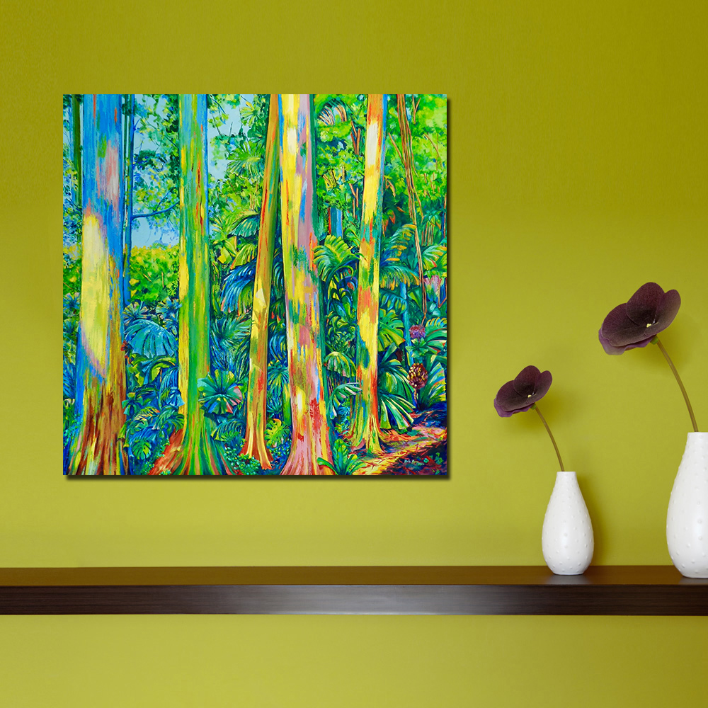 Aliexpress.com : Buy QKART Wall Art Colorful Tree Abstract Oil ...