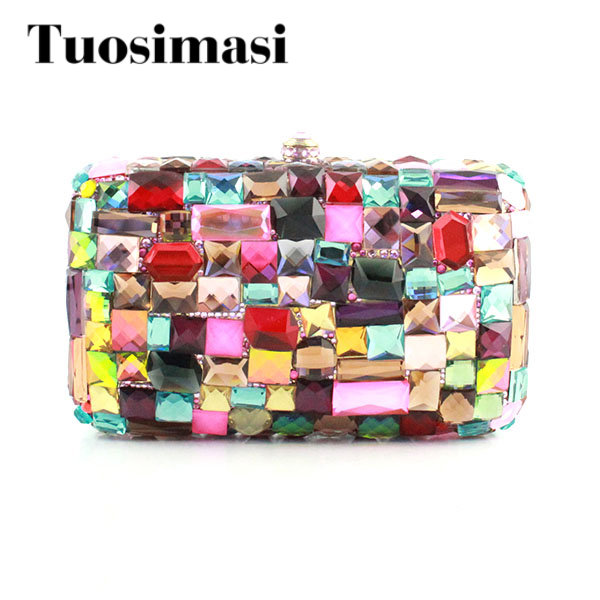 Dazzling Ladies Bridal Wedding Crystal Evening Bag Women Clutch Bags Crystal Handbag Wedding Bridal High Quality Small Purse Bag women evening handbag beads clutch bags wedding party bridal purse bag vintage embroidered flower ladies totes bags