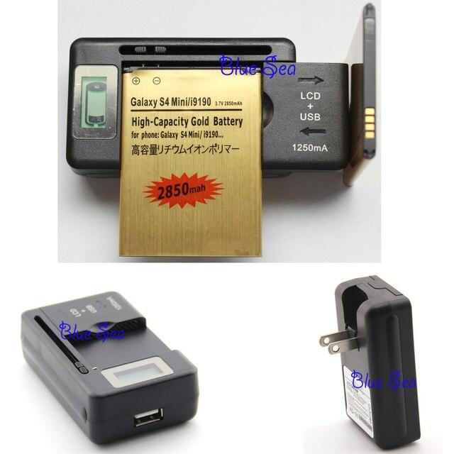 2 x B500BE Battery 2000mAh+1 Universal USB/AC LCD Display Wall Charger For Samsung Galaxy S4 Mini GT-i9190 i9192 i9195 B500BU