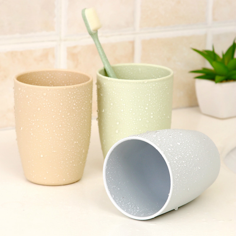 Accessories:  6 PCS/LOT PLASTIC Bathroom Accessories RINSE Toothbrush Wash Cup Products CREATIVE BRIEF GIFTS - Martin's & Co