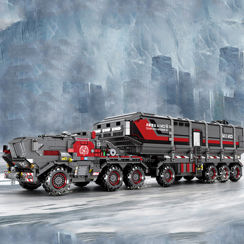Technic The Wandering Earth Movie Figures Cargotruck Transport Truck Car Building Blocks Sets Toys Gifts Creator
