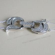 925 silver quality double row pearl necklace clasp diamond zircon 2 bracelet necklace clasp