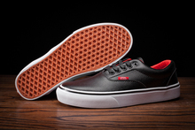 Vans classic all black authentic unisex leather couple shoes for men's and women's skateboarding shoes free shipping