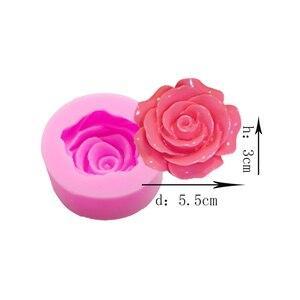 Image 5 - Molde para pasteles y magdalenas 3D de silicona con forma de rosa para Fondant, molde para pasteles y magdalenas