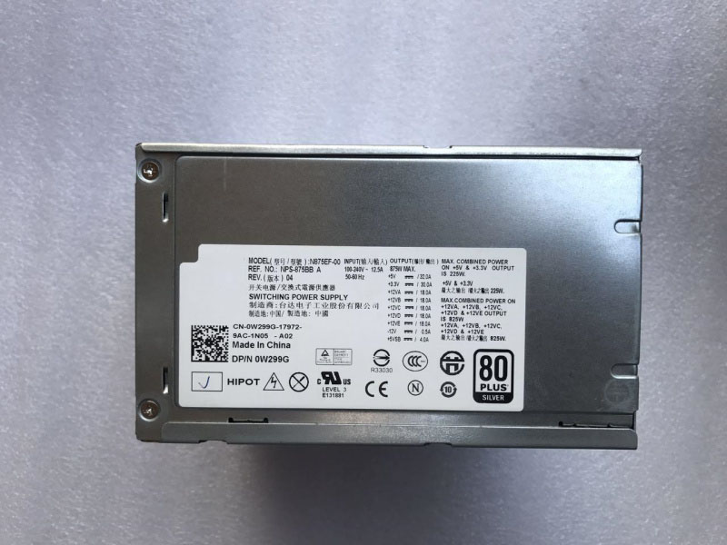 T5500 T5400 875W Workstation Power Supply H875E-00 N875E-00 J556T