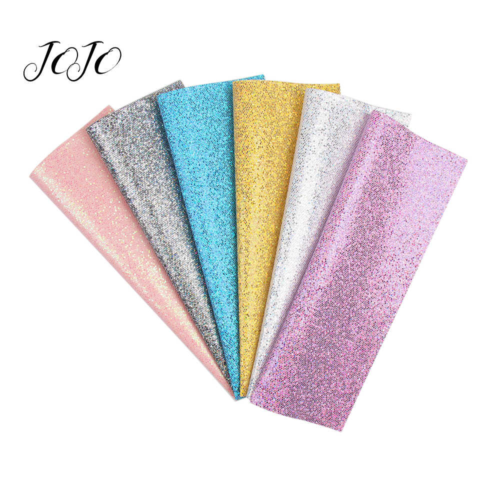 JOJO BOWS 22*30cm Chunky Glitter Sequin Stof Shiny Solid Grid Vellen DIY Haar Boog Materiaal Thuis Textiel patch Naaien Accessoire