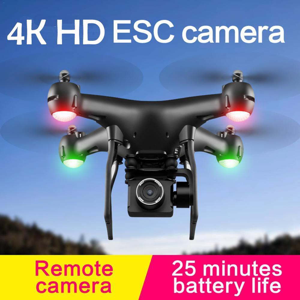 Atualizado S32T fpv Quadcopter Com Câmera 4K ESC HD 20mp Câmera selfie ajustável 4 Zangão RC Helicópteros-eixo aeronaves voando brinquedo