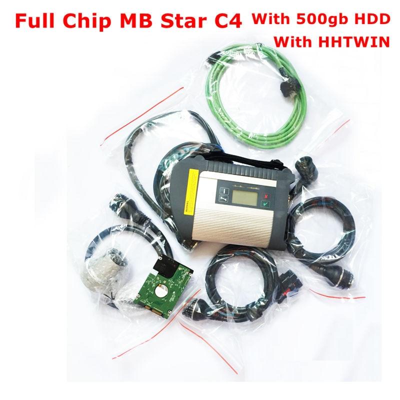2019.07 Volledige Chip MB Star C4 met Wifi Functie SD Connect Compact C4 Diagnostic Tool met 500gb HDD Software HHTWin gratis schip