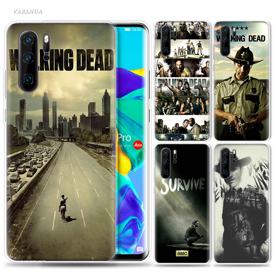 The Walking Dead Case for Huawei P20 P30 P Smart Z Plus Nova 5 5i P10 P9 Mate 10 20 lite Pro Silicone Luxury Phone Bags Cover