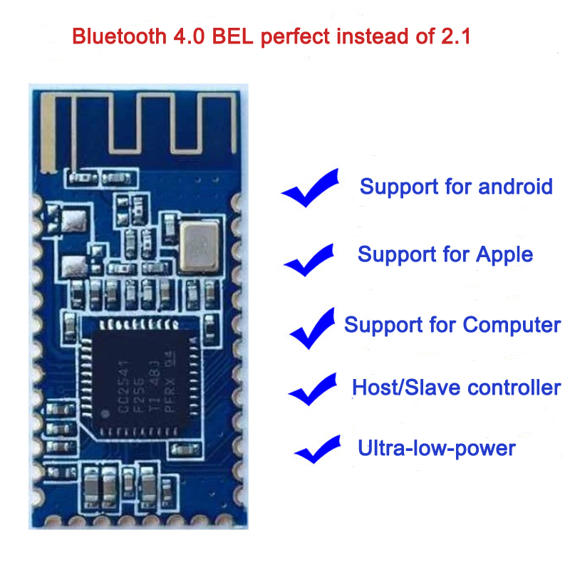 US $2 35 |Android IOS BLE Bluetooth 4 0 CC2540 CC2541 serial Wireless  Module  Bluetooth module for arduino CC2540 compatible HM 10-in Replacement