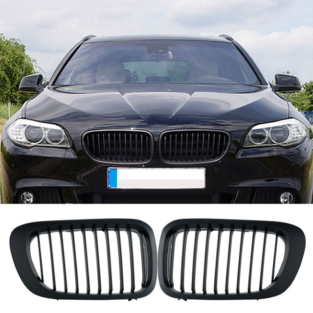 Pcs Gloss Black Kidney Grills Front Grilles For BMW E Series - Bmw 2d