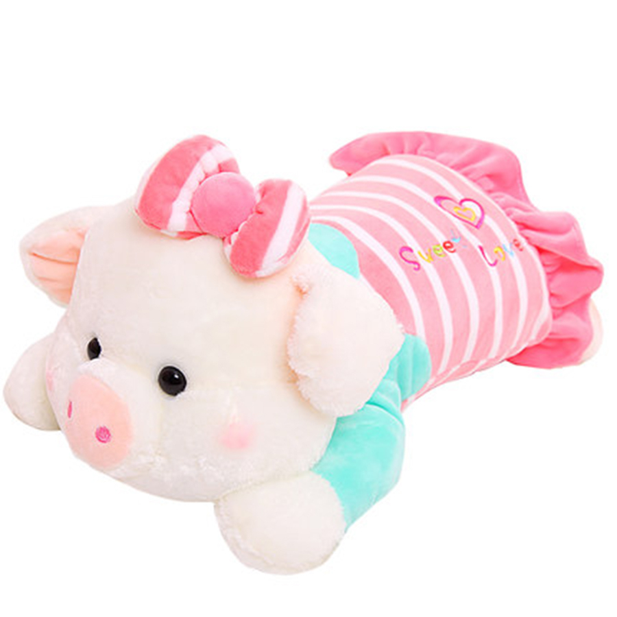 Plush Pig Stuffed Animals Pigs Toy Pluche Stuffe Speelgoed Kids Soft Toys Big Piggy Stuffed Animal Plush Toy Pig Cute 70C0405 plush toy happy stuffed pig with a hat
