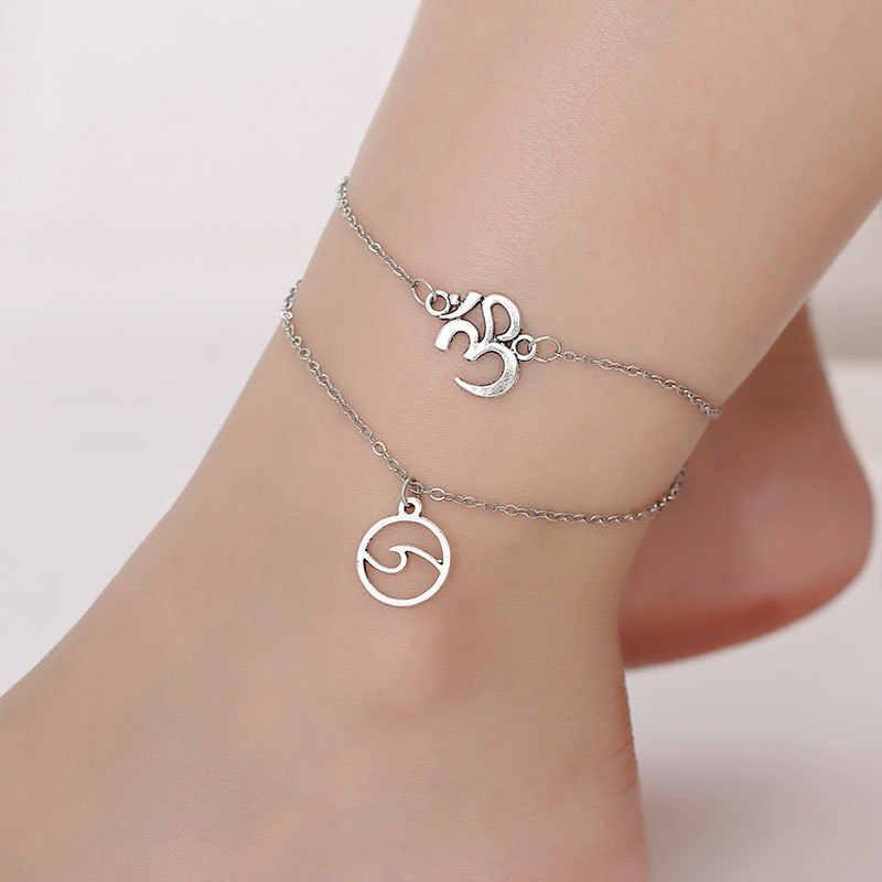 Serce kobiece obrączki boso szydełkowe sandały biżuteria na stopy nogi nowe obrączki na stopy bransoletki na kostki dla kobiet