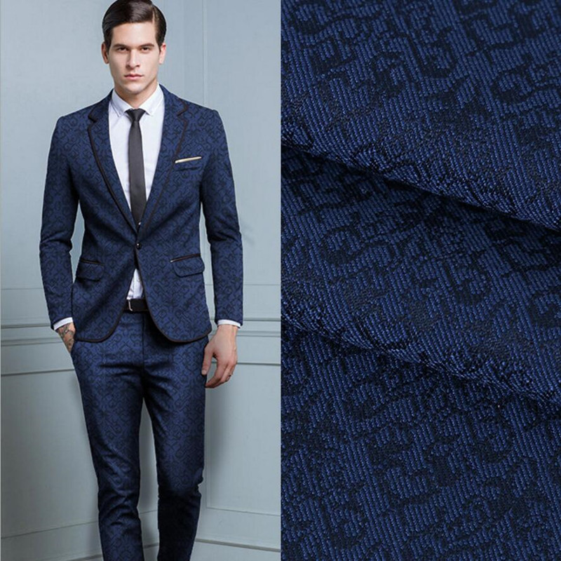New Men's Suit Custom Jacquard Fabric High Quality Formal Occasio Business And Leisure Suit Ball Gown Two-piece Men's Suit