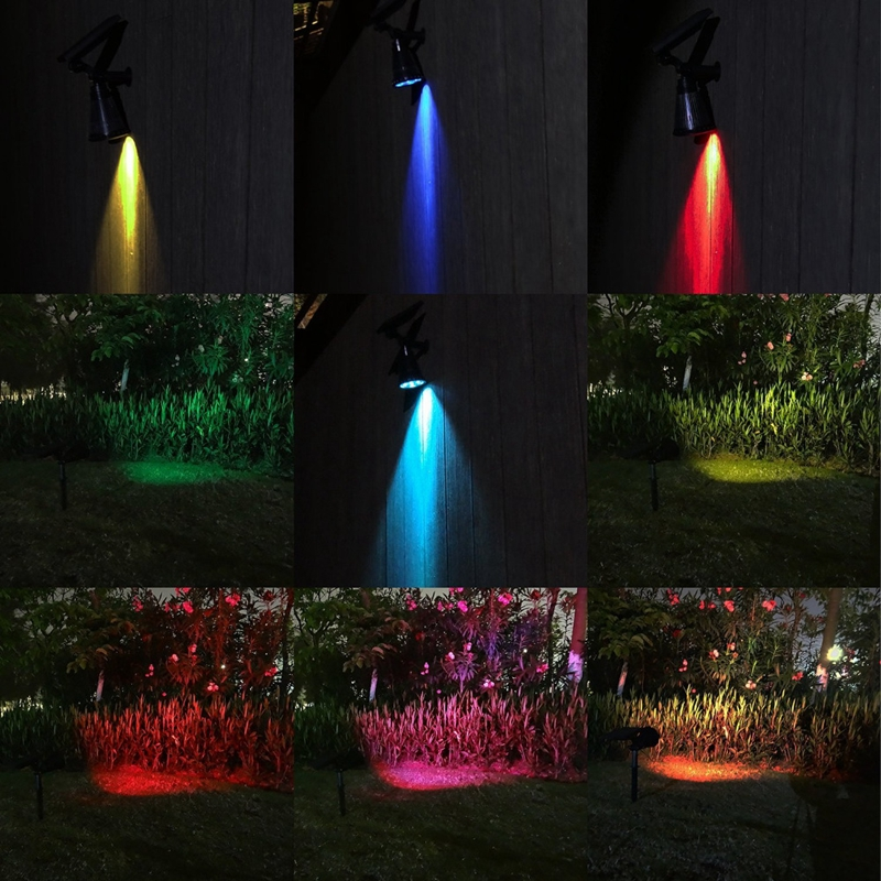 Szyoumy 7 led auto rgb white solar spotlight outdoor lighting szyoumy 7 led auto rgb white solar spotlight outdoor lighting solar powered security landscape wall light for outdoor garden in solar lamps from lights workwithnaturefo