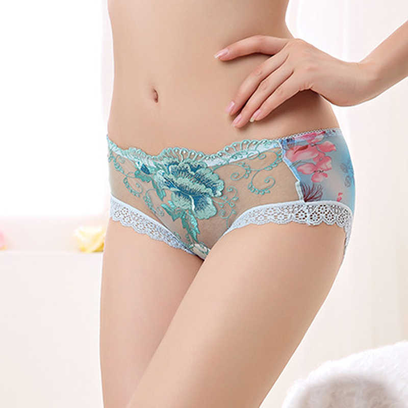 4a65cfc6d6f ... Sexy Women Boxer Shorts Lace Panties Transparent Boyshort The embroidery  Underpants Female Knickers Full Lace Boxers ...
