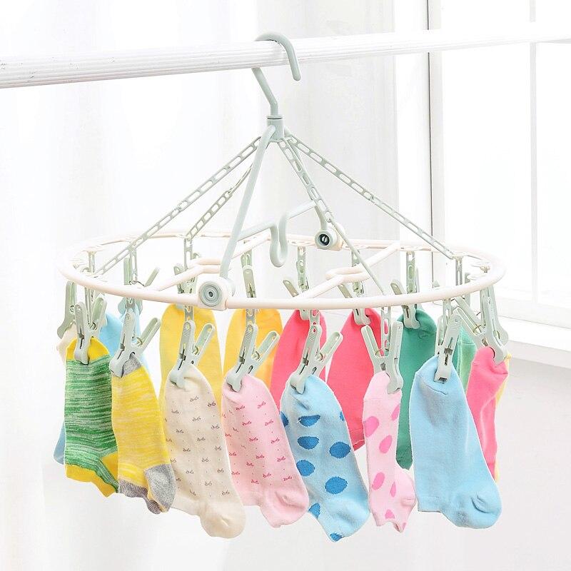 Folding clothes racks Multifunction windbreaker socks household plastic socks folder 18 folder drying clothes clip