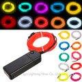 Frete grátis 3 M flexível luz Neon brilho EL Wire Rope partido do carro cores diferentes para escolher