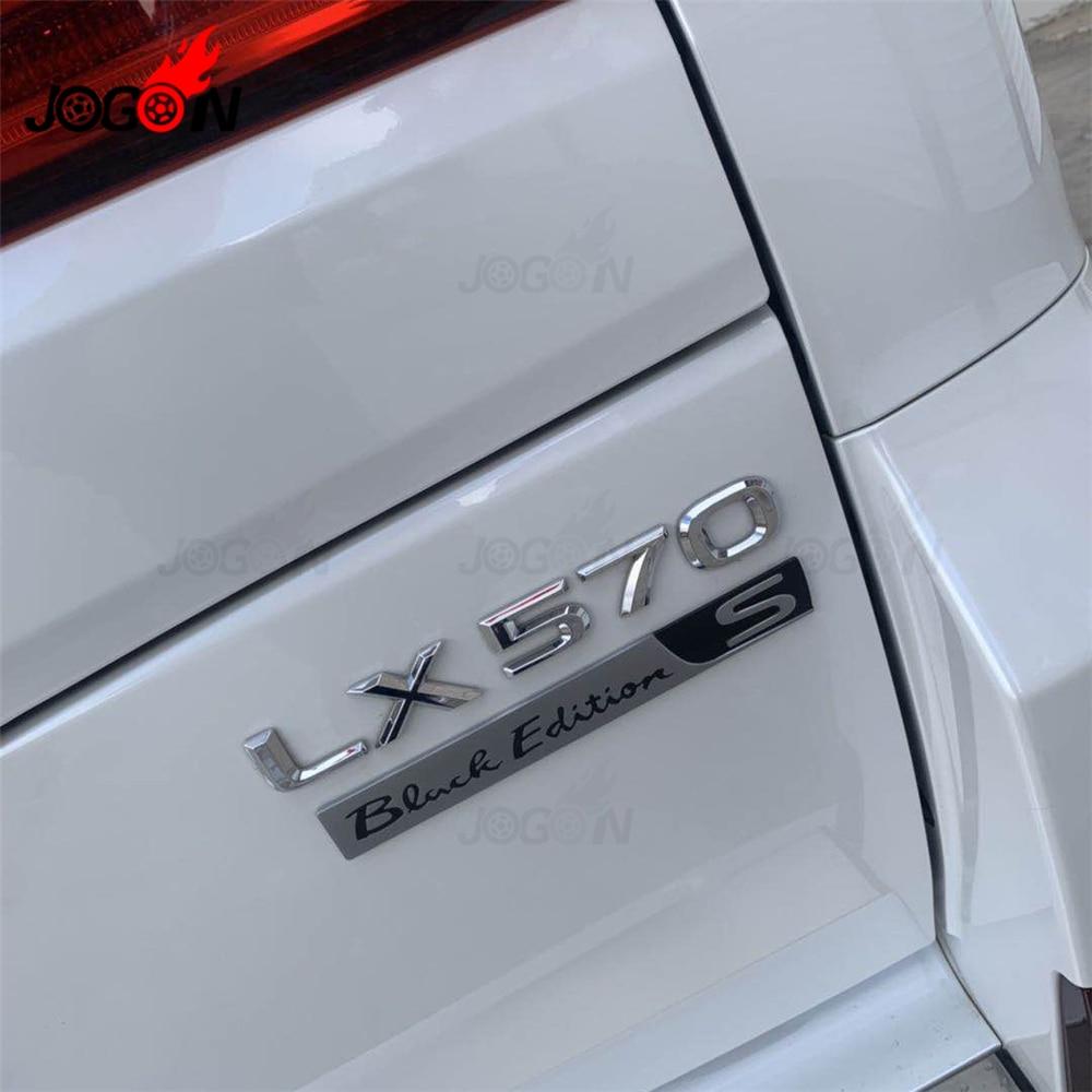 For Lexus LX570 2015 2016 2017 2018 2019 Car Rear Trunk Edition S Emblem Badge Sticker Trim