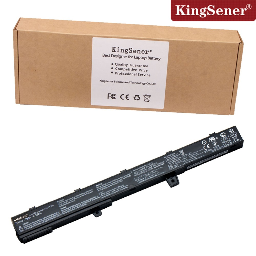10.8V 33WH KingSener New Laptop Battery for ASUS A31N1319 A41N1308 X451C X551C X551CA X451CA X451 X551 Free 2 Years warranty 10 8v 8100mah kingsener new laptop battery for getac b300 b300x rugged notebook bp3s3p2900 4418144000490 free 2 years warranty