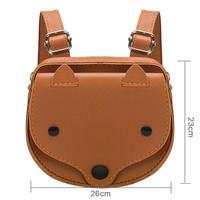 3д животных фокс мини-симпатичный небольшой ПУ рюкзак мода мультфильм дети малышей сумка известный дизайн одноцветное портативный девушка школьный
