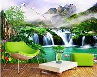 Mural Wallpaper 3D Bamboo Forest Fresh 3D TV Bedroom Living Room Background Wall Papel De Parede