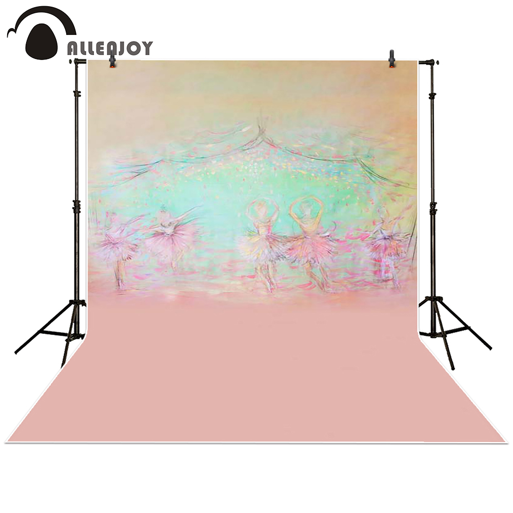 Allenjoy Photography backdrops background Stage dancers pink green bokeh watercolor baby shower newborn props spring Princess
