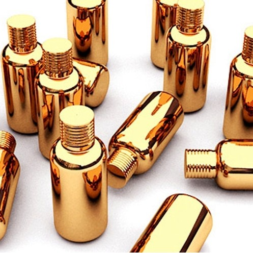 Free shipping 30ml 30cc 1OZ High Grade gold plated Capsule glass bottle empty diy pill vials screw lid essentical oil bottle цена