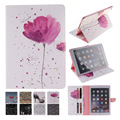 For Case Apple iPad air 2 Fashion Printing PU Leather Stand TPU Tablet Case Cover for iPad 6 iPad Air 2 Funda Coque