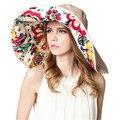 2016 Широкими Полями Вс Шапки Женщины Летний Пляж Hat Для Женщин Раза Chapeu Feminino ZMF874952